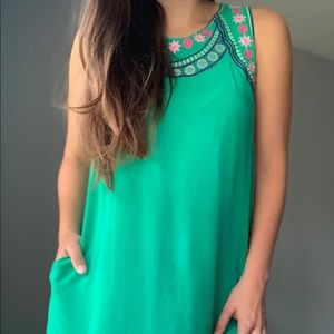 Jodifl Green Dress small